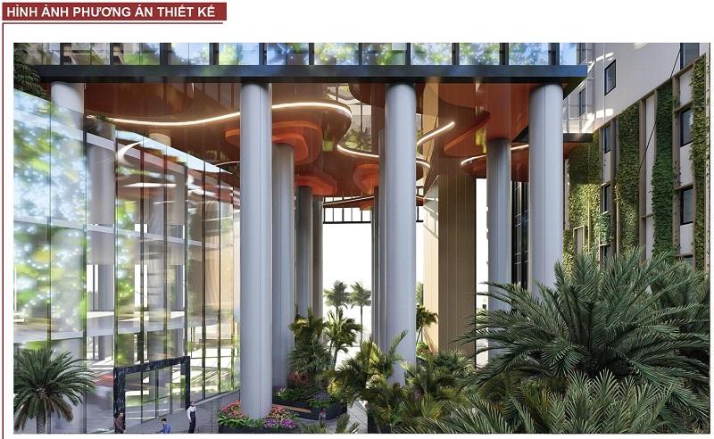 Phương án thiết kế sảnh dự án BRG Grand Plaza 16 Láng Hạ