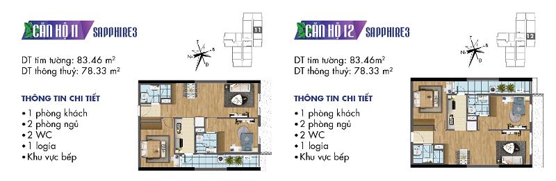 Thiết kế chi tiết căn hộ 11-12 Sapphire 3 Goldmark City - 136 Hồ Tùng Mậu