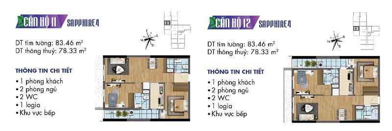 Thiết kế chi tiết căn hộ 11-12 Sapphire 4 Goldmark City