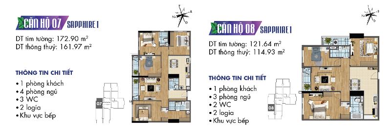 Thiết kế chi tiết căn hộ 7-8 Sapphire 1 Goldmark City - 136 Hồ Tùng Mậu