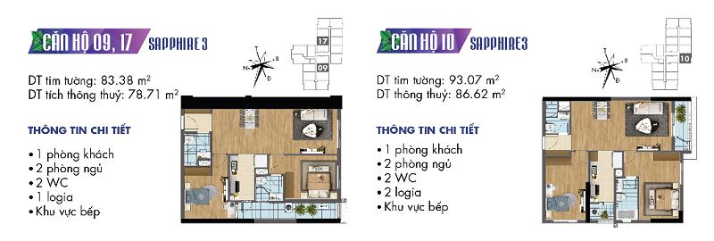 Thiết kế chi tiết căn hộ 9-10-17 Sapphire 3 Goldmark City - 136 Hồ Tùng Mậu
