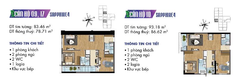 Thiết kế chi tiết căn hộ 9-10-17 Sapphire 4 Goldmark City
