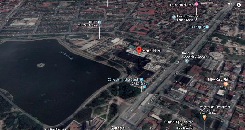 Vị trí dự án chung cư 16 Láng Hạ - BRG Grand Plaza