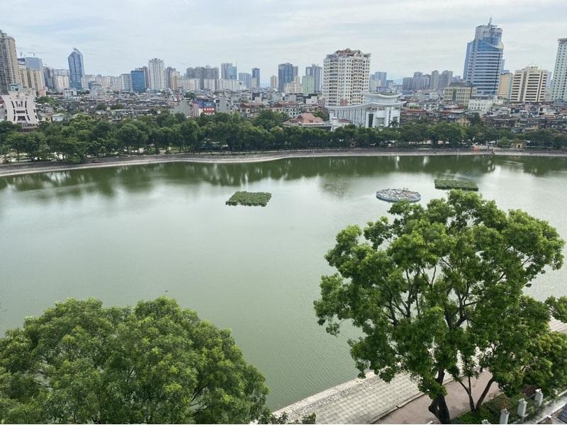View công viên Thành Công từ căn hộ dự án BRG Grand Plaza 16 Láng Hạ