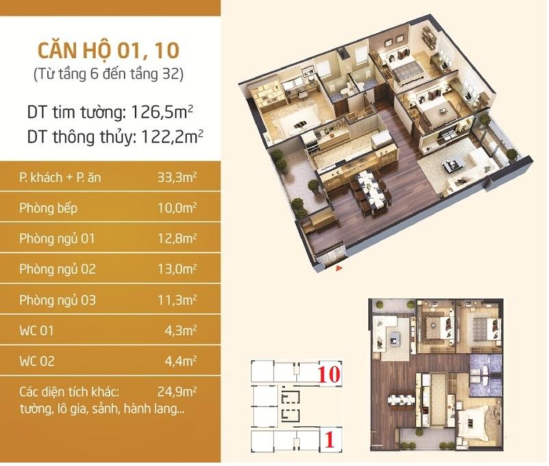 Thiết kế căn 1-10 dự án Phú Mỹ Complex - N01-T4 Ngoại Giao Đoàn