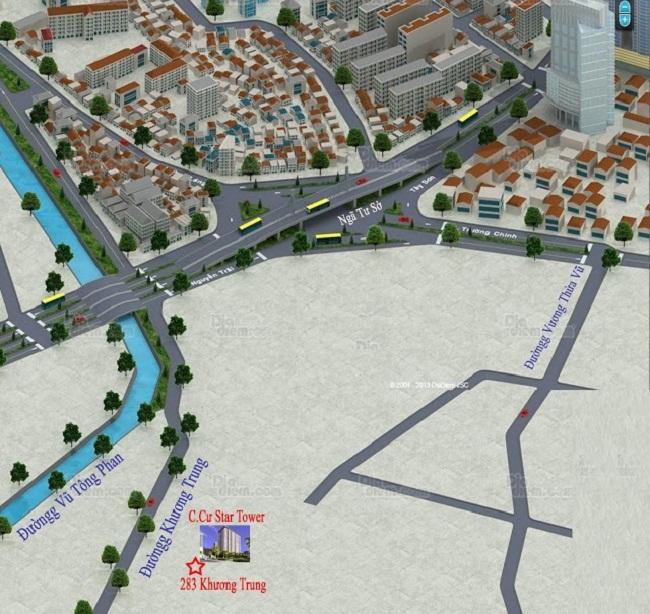 Vị trí dự án Star Tower - 283 Khương Trung