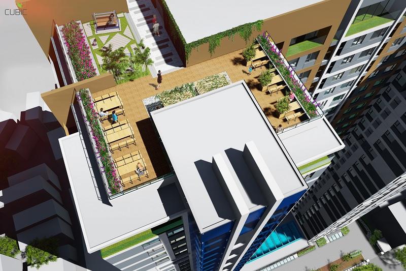 Góc tiện ích tầng mái dự án Riverside Garden 349 Vũ Tông Phan