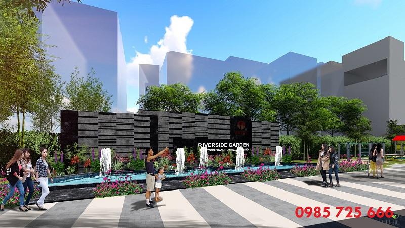 Sảnh trước dự án Riverside Garden 349 Vũ Tông Phan