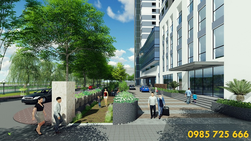 Mặt tiền đường dự án Riverside Garden 349 Vũ Tông Phan