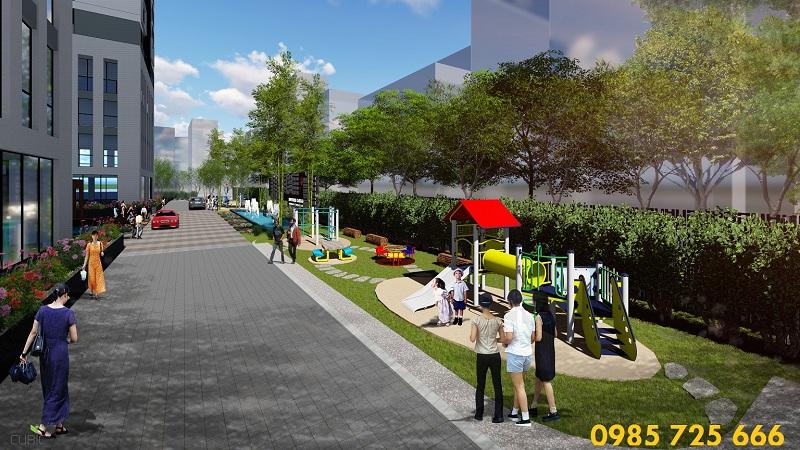 Sân tập dự án Riverside Garden 349 Vũ Tông Phan