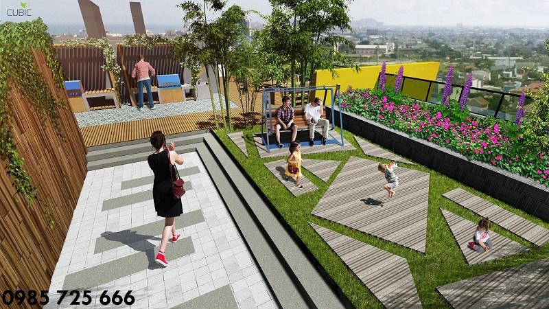 Ghế nghỉ dự án Riverside Garden 349 Vũ Tông Phan