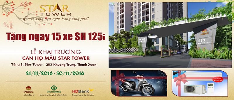 Chương trình khuyến mãi dự án Star Tower 283 Khương Trung