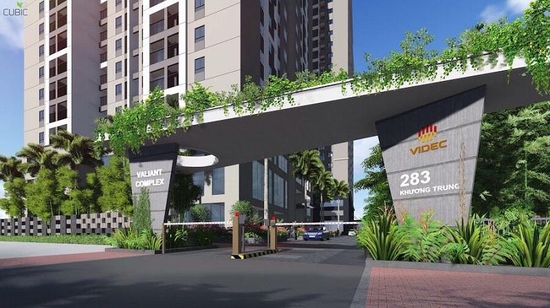 Cổng vào chung cư Star Tower 283 Khương Trung