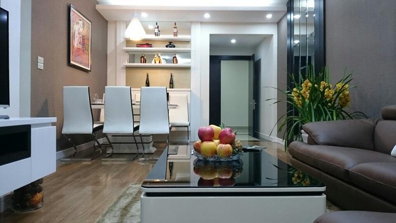 Phòng khách căn hộ mẫu dự án Star Tower 283 Khương Trung