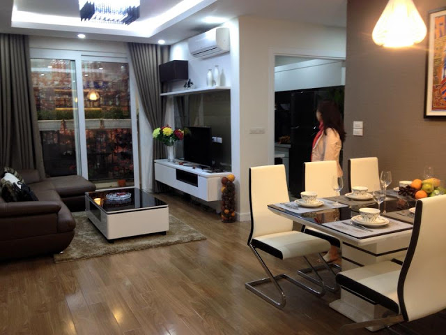 Phòng ăn căn hộ mẫu dự án Star Tower 283 Khương Trung