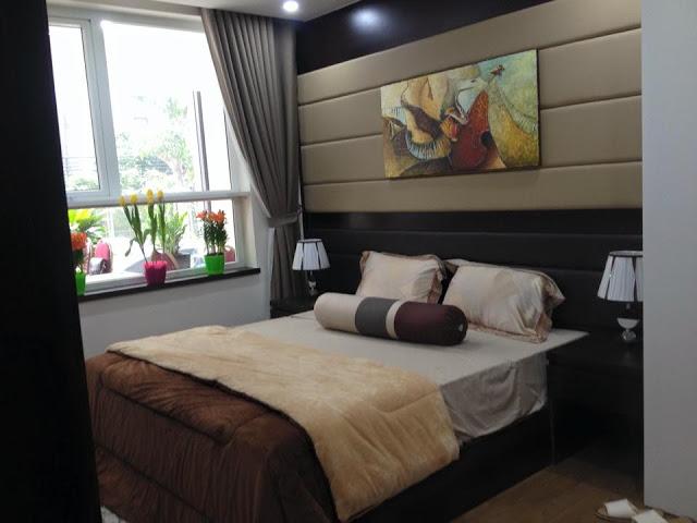 Phòng ngủ master căn hộ mẫu Star Tower 283 Khương Trung
