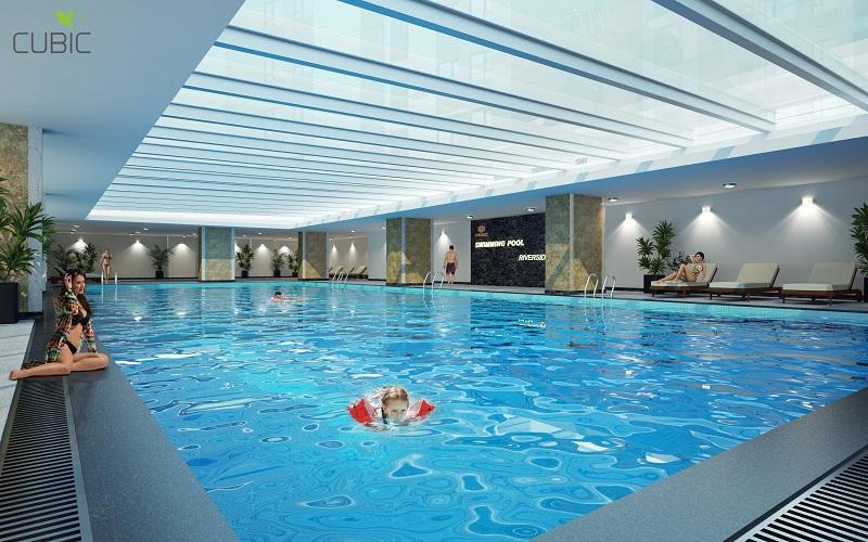 Bể bơi bốn mùa dự án Riverside Garden 349 Vũ Tông Phan