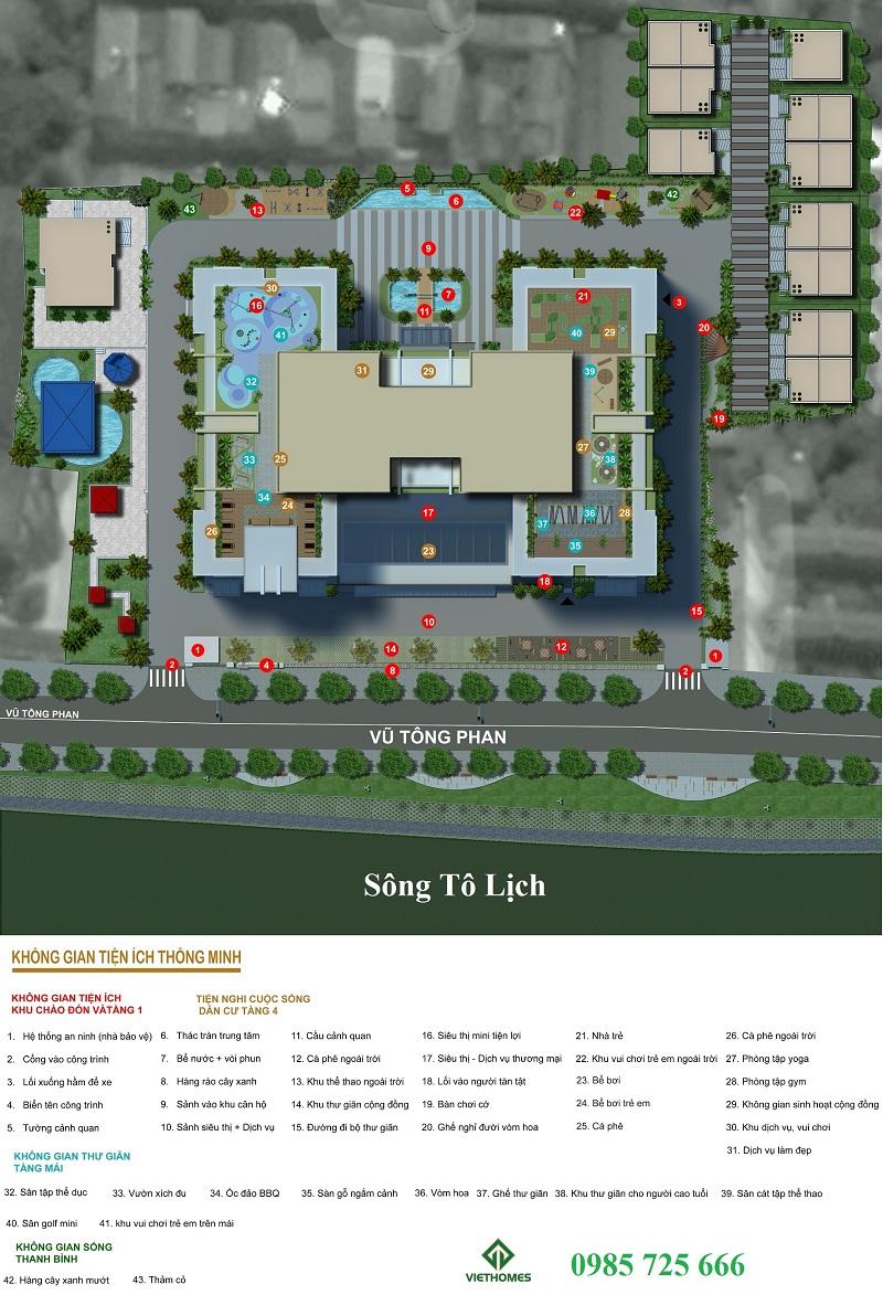 Thiết kế cảnh quan dự án Riverside Garden 349 Vũ Tông Phan