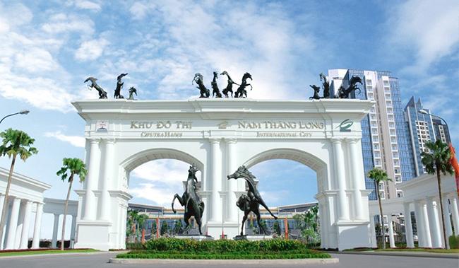 Cổng vào Khu đô thị Ciputra - Nam Thăng Long