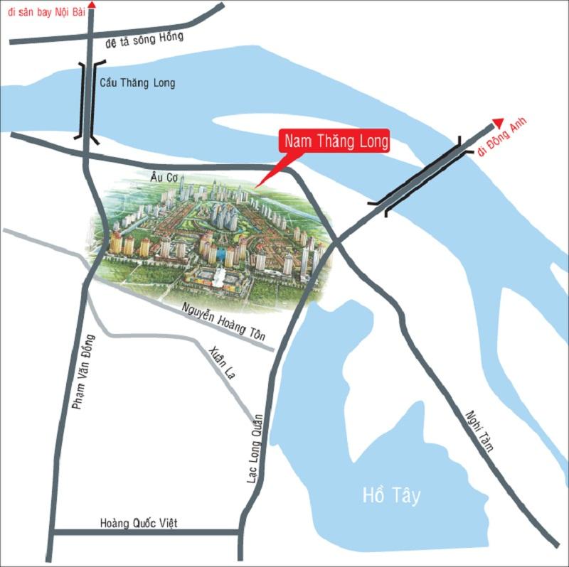 Vị trí dự án TheLink 345 Khu đô thị Ciputra - Nam Thăng Long