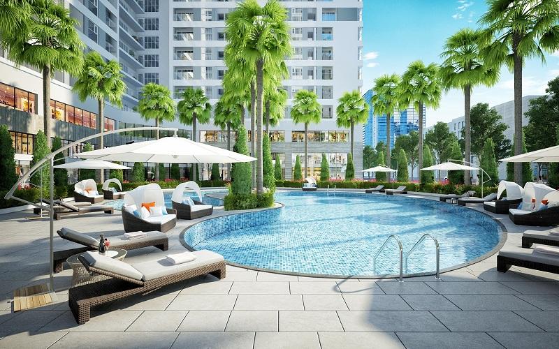 Bể bơi ngoài trời Dự án Rivera Park Hà Nội - 69 Vũ Trọng Phụng