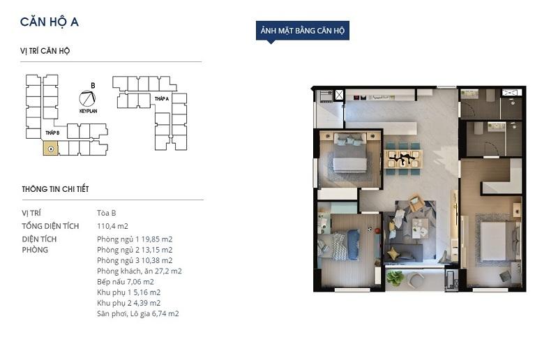 Thiết kế căn hộ loại a Dự án Rivera Park Hà Nội - 69 Vũ Trọng Phụng