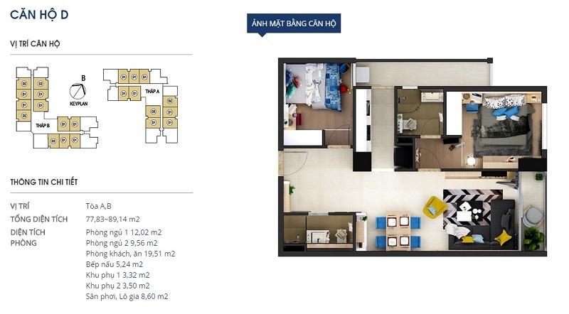Thiết kế căn hộ loại d Dự án Rivera Park Hà Nội - 69 Vũ Trọng Phụng