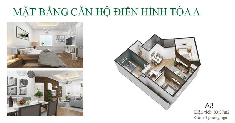 Thiết kế căn hộ loại A dự án Eco City Việt Hưng - Long Biên
