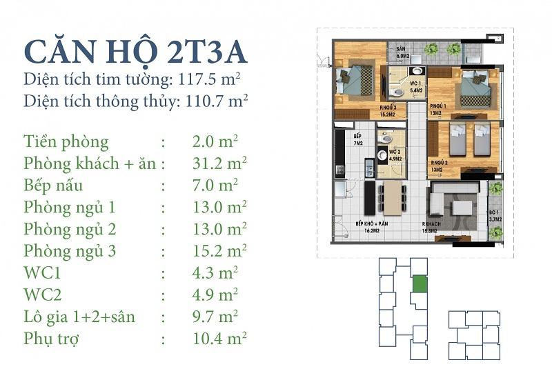 Thiết kế chi tiết căn 2 tòa N03T3A Horizon Tower - Ngoại Giao Đoàn