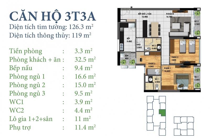 Thiết kế chi tiết căn 3 tòa N03T3A Horizon Tower - Ngoại Giao Đoàn