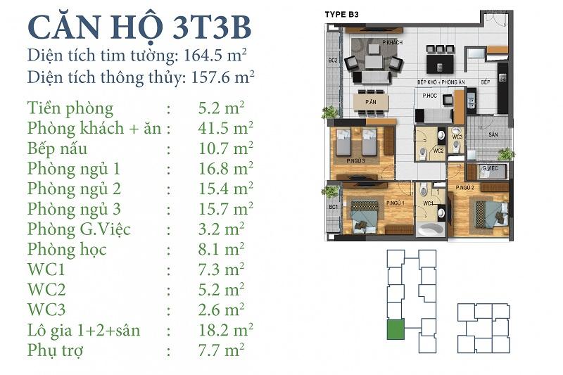 Thiết kế chi tiết căn 3 tòa N03T3B Horizon Tower - Ngoại Giao Đoàn