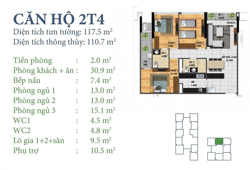 Thiết kế chi tiết căn 2 tòa N03T4 Horizon Tower