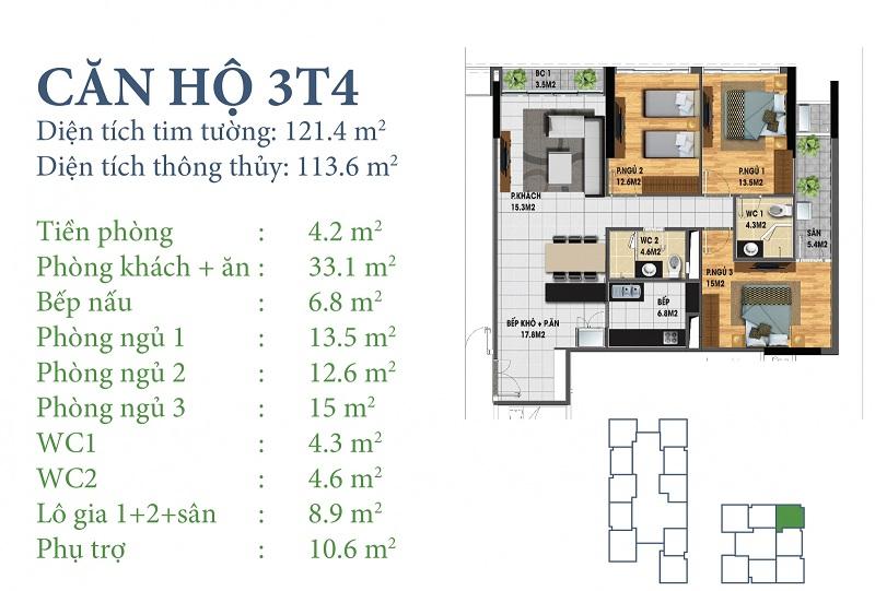 Thiết kế chi tiết căn 3 tòa N03T4 Horizon Tower - Ngoại Giao Đoàn