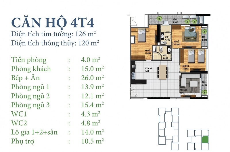 Thiết kế chi tiết căn 4 tòa N03T4 Horizon Tower - Ngoại Giao Đoàn