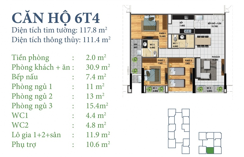 Thiết kế chi tiết căn 6 tòa N03T4 Horizon Tower