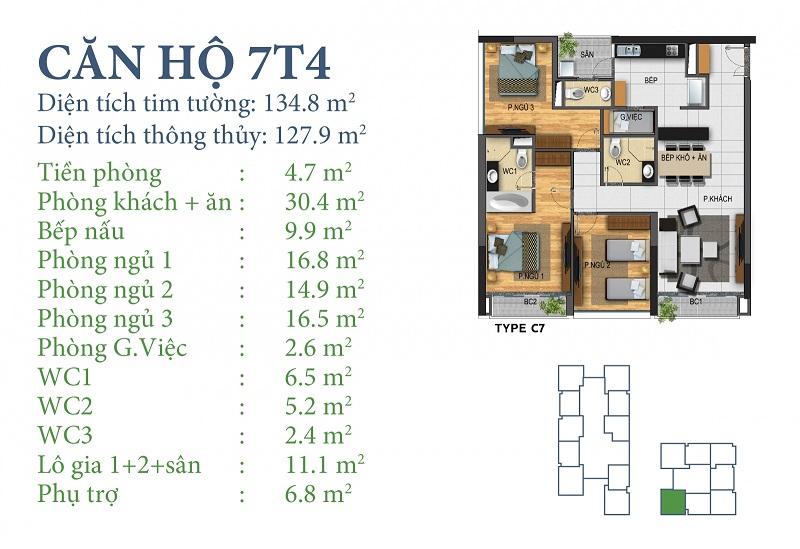 Thiết kế chi tiết căn 7 tòa N03T4 Horizon Tower - Ngoại Giao Đoàn