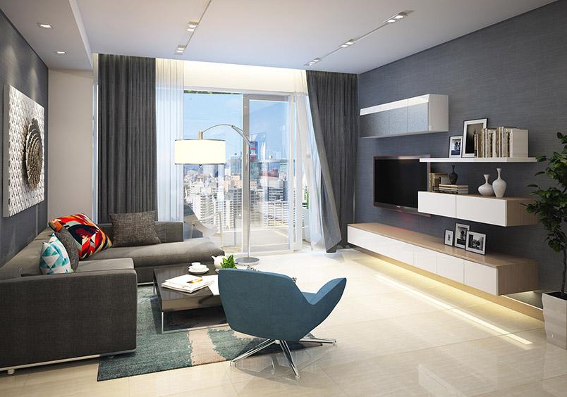 Thiết kế Phòng khách Dự án Rivera Park Hà Nội - 69 Vũ Trọng Phụng