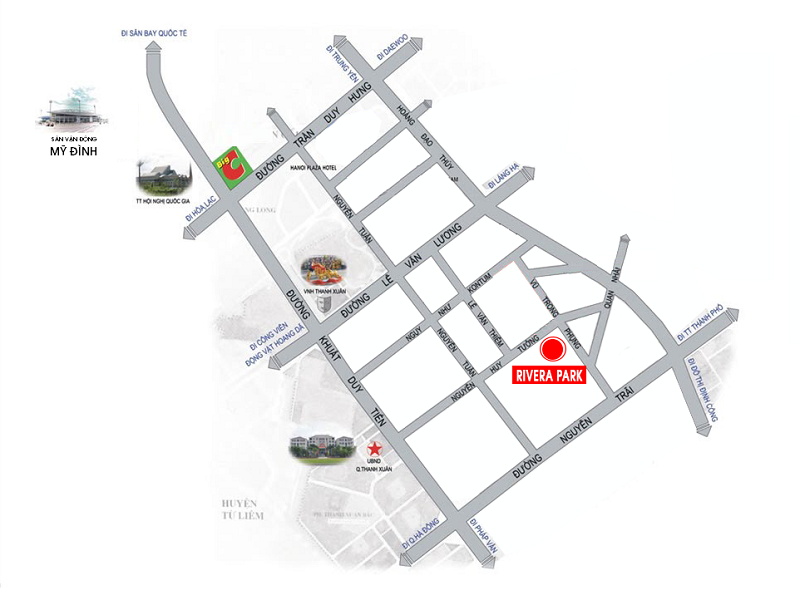 Vị trí Dự án Rivera Park Hà Nội - 69 Vũ Trọng Phụng