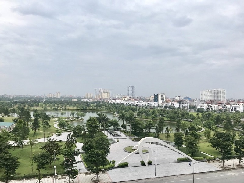 View từ chung cư N03-T3-T4 Ngoại Giao Đoàn