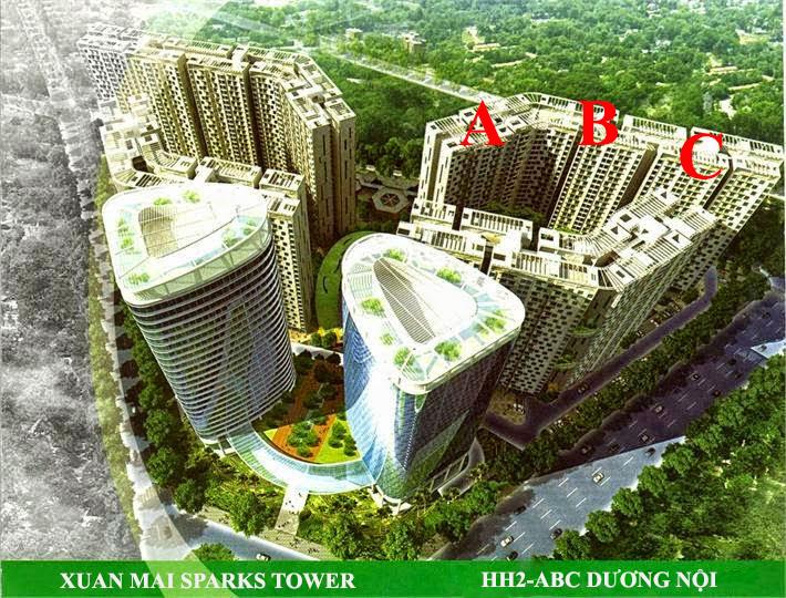 Phối cảnh dự án Xuân Mai Spark Dương Nội