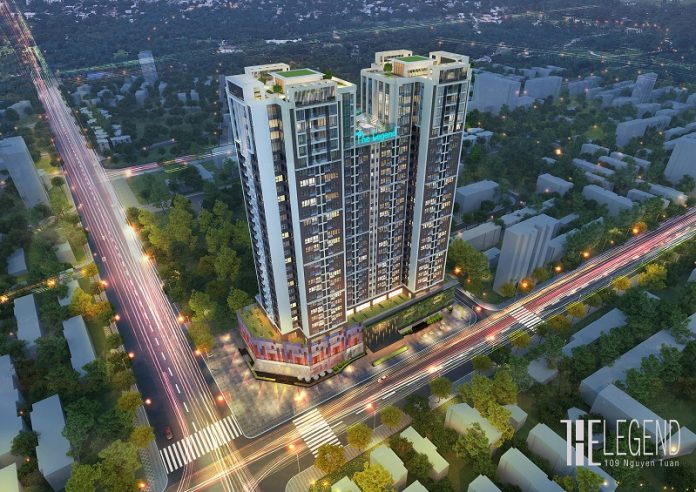 Phối cảnh dự án The Legend Tower - 109 Nguyễn Tuân