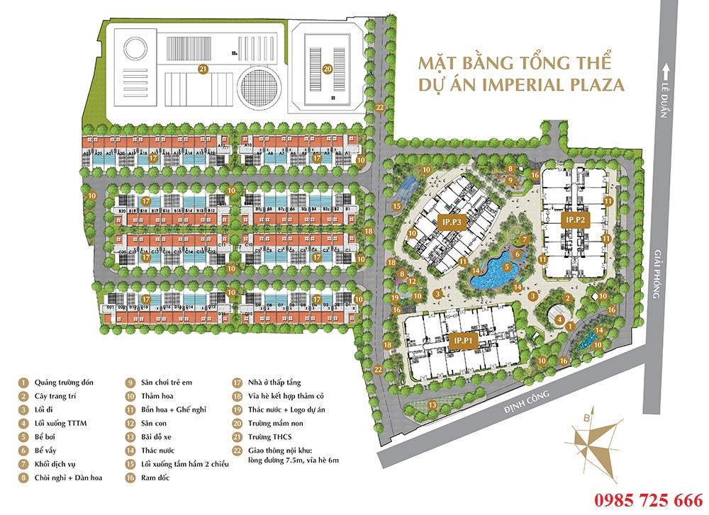 Tiện ích Imperial Plaza 360 Giải Phóng