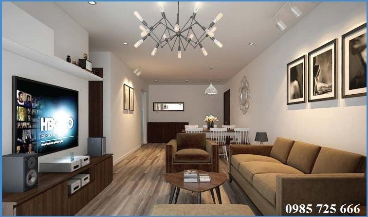Thiết kế phòng khách Trung Yên Smile Building - Nguyễn Cảnh Dị
