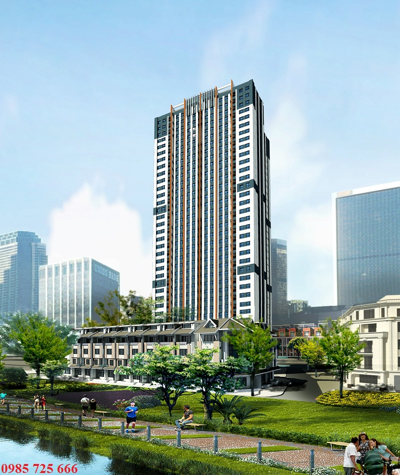 Mặt sau view hồ Đầm Đẫy của Trung Yên Smile Building - Nguyễn Cảnh Dị