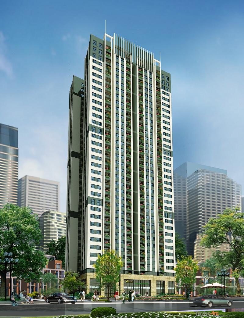 Mặt trước dự án Trung Yên Smile Building - Nguyễn Cảnh Dị