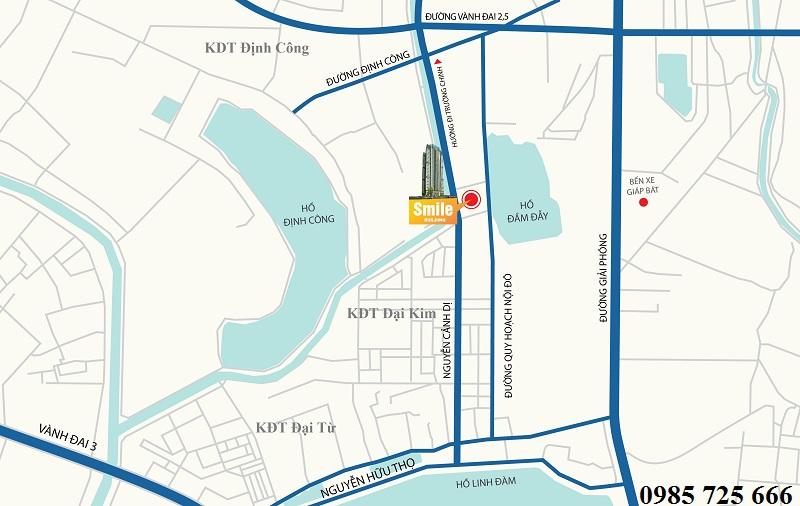 Vị trí dự án Trung Yên Smile Building - Nguyễn Cảnh Dị