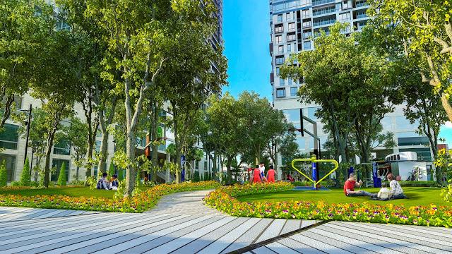 Khuôn viên dự án Eco Lake View - 32 Đại Từ