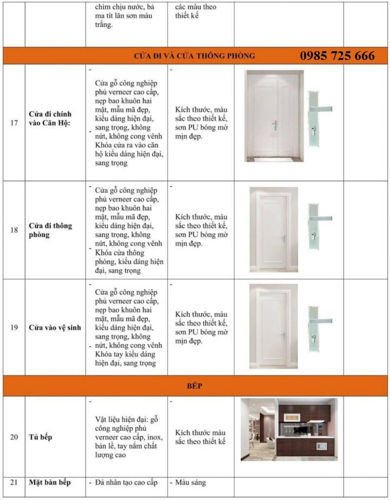 Vật liệu hoàn thiện nội thất Hateco Xuân Phương 3