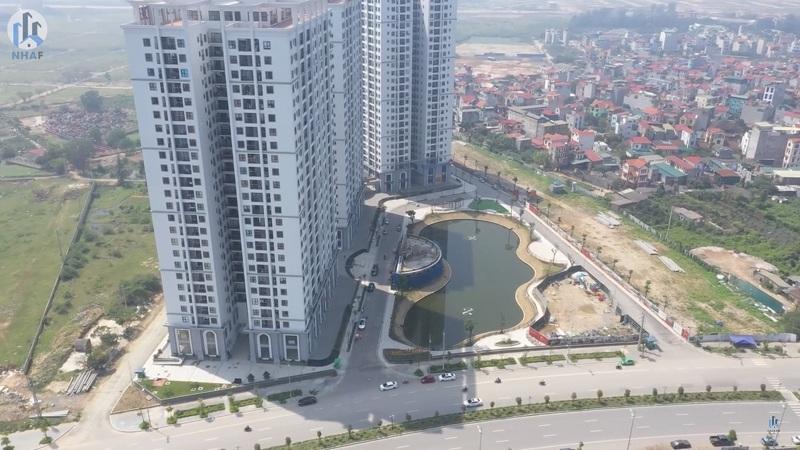 Flycam 2 thực tế dự án Hateco Apollo Xuân Phương