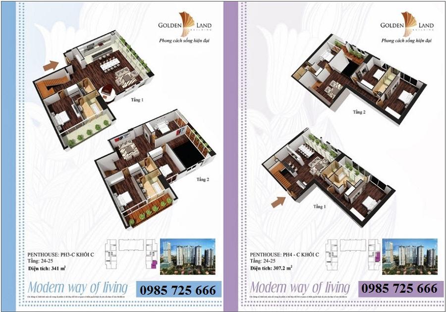 Thiết kế căn hộ a10 dự án Golden Land 275 Nguyễn Trãi